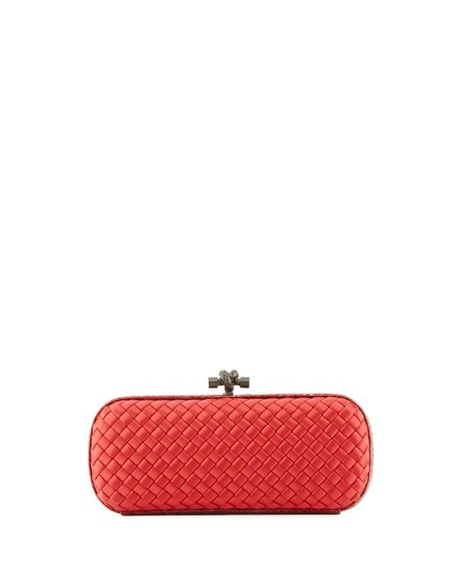 Bottega Veneta | Red Elongated Knot Intrecciato Minaudiere Bag | Lyst