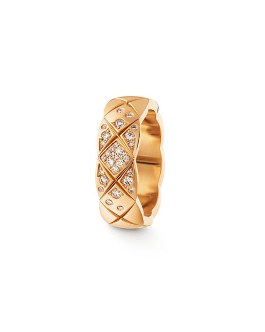Chanel | Metallic Coco Crush Ring In 18k Beige Gold And Diamonds | Lyst