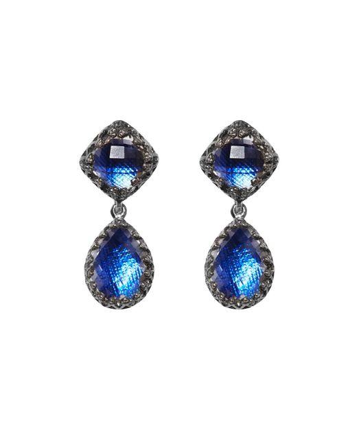 Larkspur & Hawk - Blue Small Jane Quartz Drop Earrings - Lyst