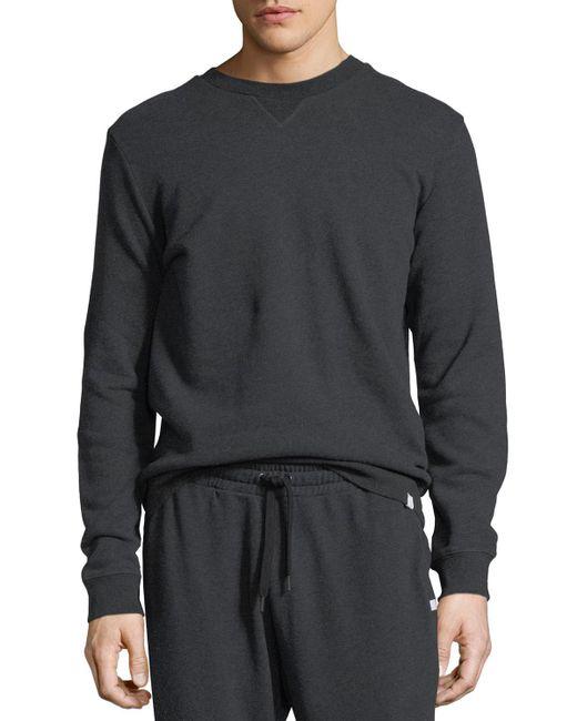 Derek Rose - Gray Devon 1 Leaf-print Cotton Sweatshirt for Men - Lyst