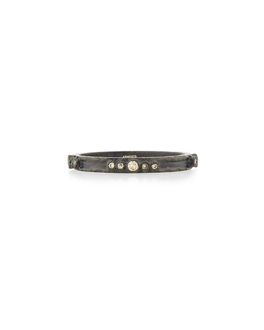 Armenta - Metallic Old World Midnight Diamond Stacking Ring - Lyst