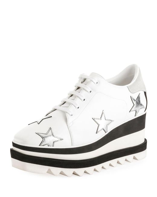 Stella McCartney - White Sneakelyse Stars Platform Sneaker - Lyst