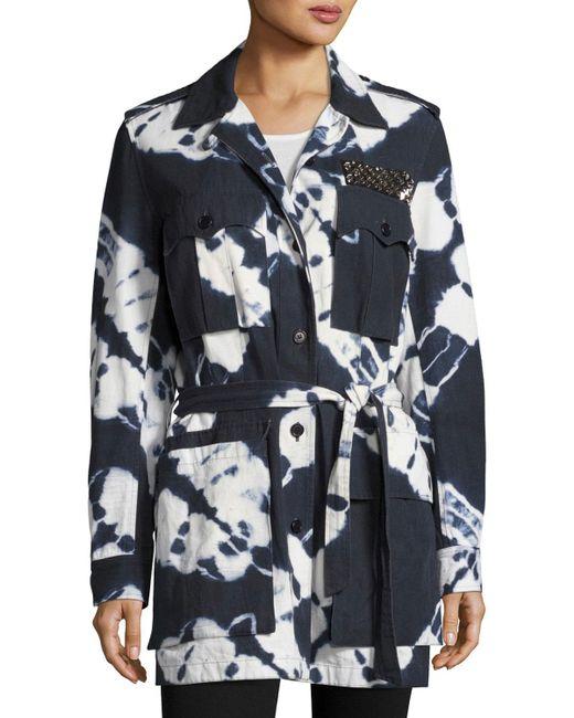 Figue | Blue Tie-dye Safari Jacket | Lyst