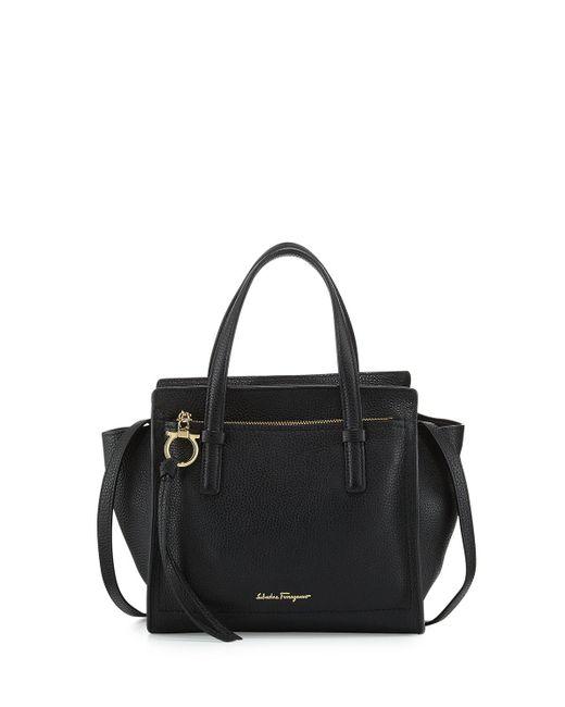 Ferragamo - Black Small Leather Tote Bag - Lyst