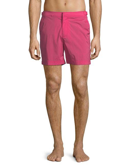 Orlebar Brown - Pink Bulldog Solid Swim Trunks for Men - Lyst
