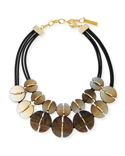 Lafayette 148 New York - Multicolor Coffee Bean Statement Necklace - Lyst