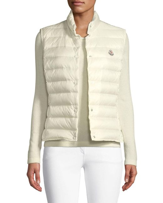 93bda11b5 Lyst - Moncler Liane Quilted Down Gilet in White