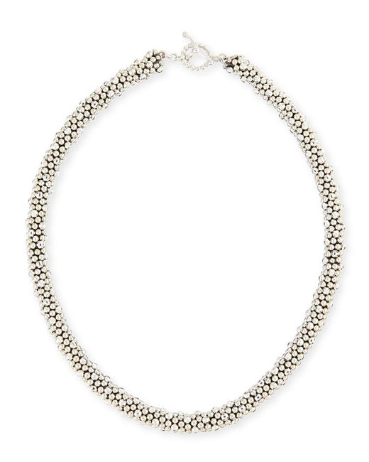 Meredith Frederick - Metallic Irina Faceted Sterling Silver Bead Necklace - Lyst