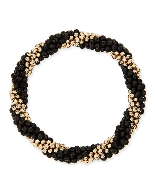 Meredith Frederick | Audrey 14k Gold And Black Onyx Bead Bracelet | Lyst