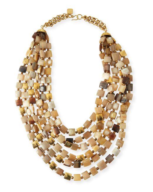 Ashley Pittman | Multicolor Kila Light Horn Multi-strand Necklace | Lyst