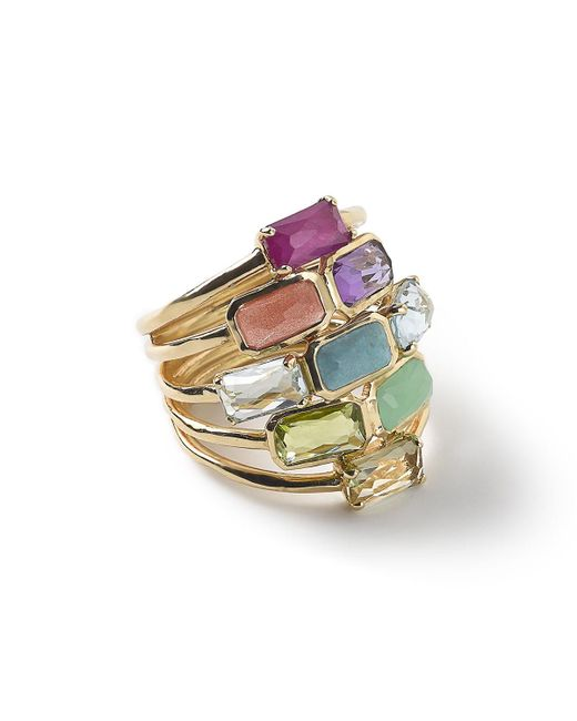 Ippolita | Metallic 18k Rock Candy Mosaic Cascade Ring | Lyst