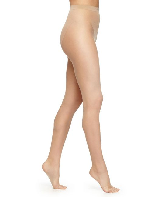 Wolford | Natural Luxe 9 Toeless Tights- Basic | Lyst