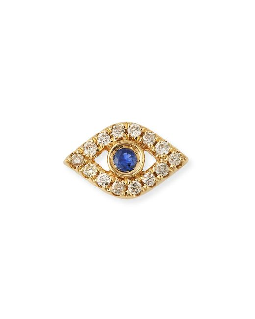 Sydney Evan | Metallic 14k Diamond Mini Evil Eye Single Stud Earring | Lyst