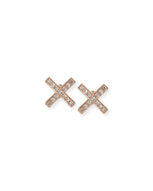 EF Collection | Metallic Diamond X Stud Earring Pair | Lyst