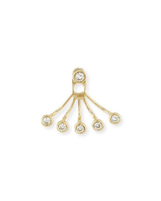EF Collection   Metallic Bezel-set Diamond Jacket Earring   Lyst