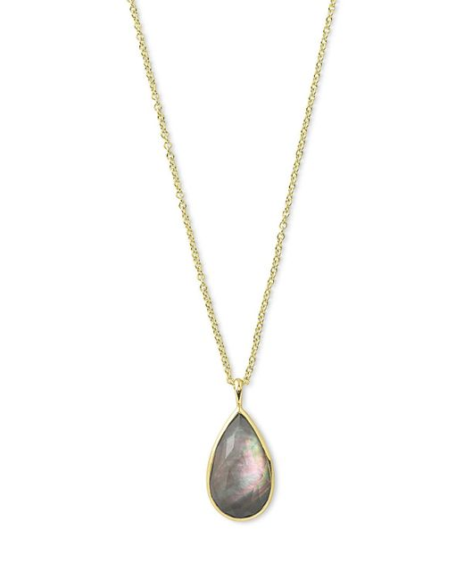 Ippolita | Metallic Rock Candy® Teardrop Pendant Necklace In Black Shell | Lyst
