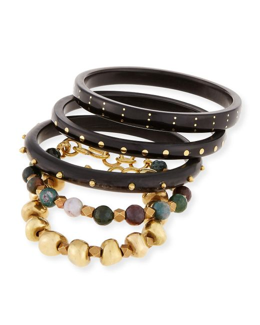 Ashley Pittman | Black Mwisho Dark Horn Bangles | Lyst