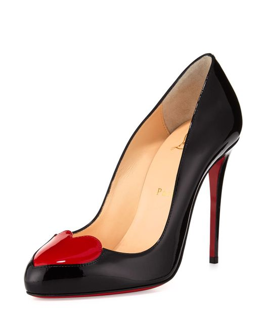 Christian Louboutin | Doracora Patent Heart Red Sole Pump | Lyst
