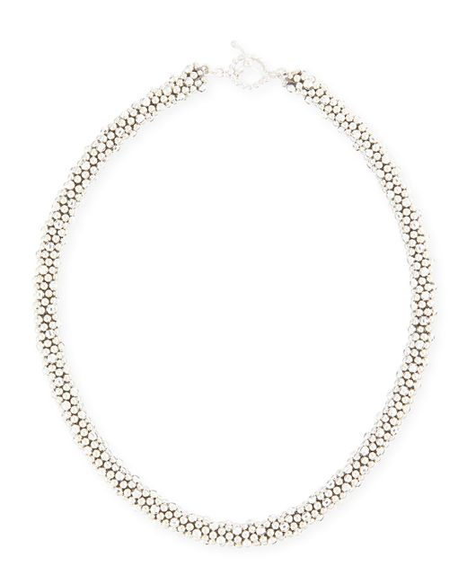Meredith Frederick | Metallic Irina Faceted Sterling Silver Bead Necklace | Lyst