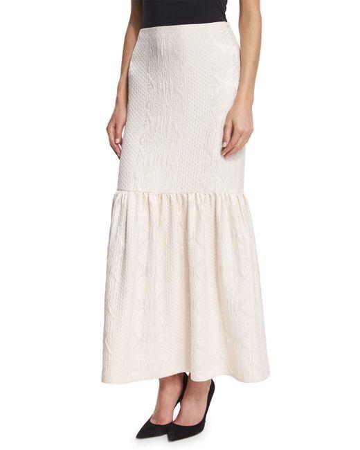 the row textured cloque peplum maxi skirt in white lyst
