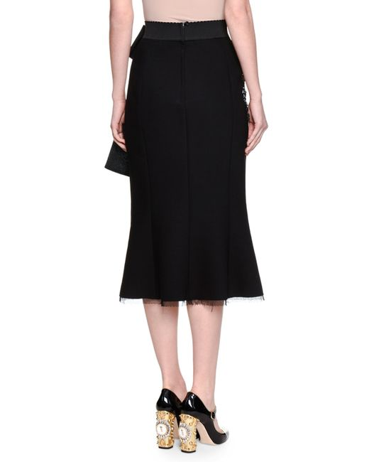 dolce gabbana tiered tulle maxi skirt in black save 89