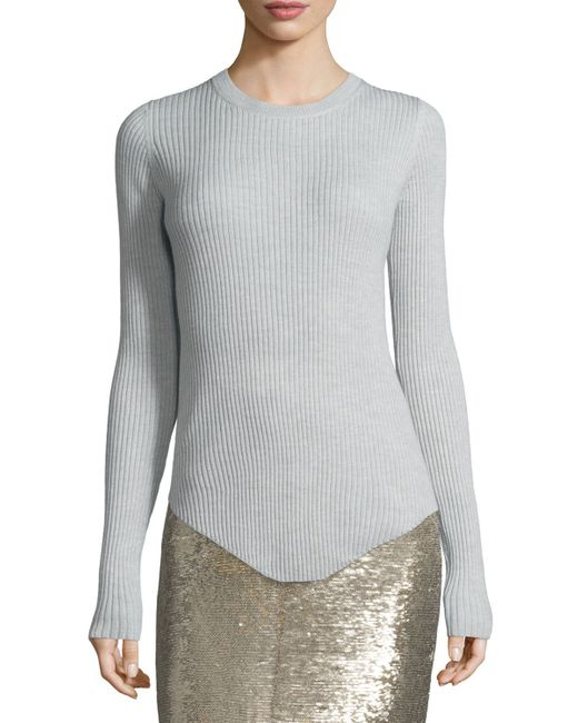 IRO | Gray Adave Woven Silk Blouse | Lyst