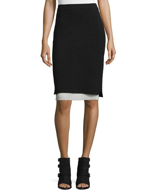 rag bone aimee layered pencil skirt in black save 40