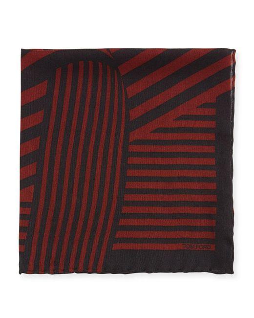 Tom Ford | Red Wide-stripe Pocket Square for Men | Lyst
