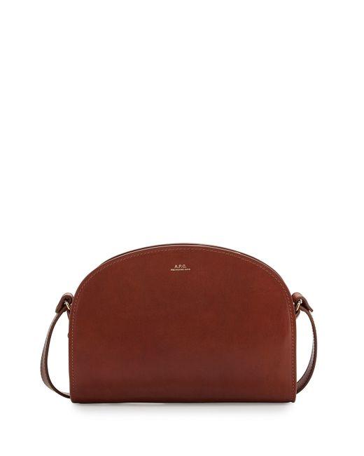 a p c half moon shoulder bag in brown save 22 lyst. Black Bedroom Furniture Sets. Home Design Ideas