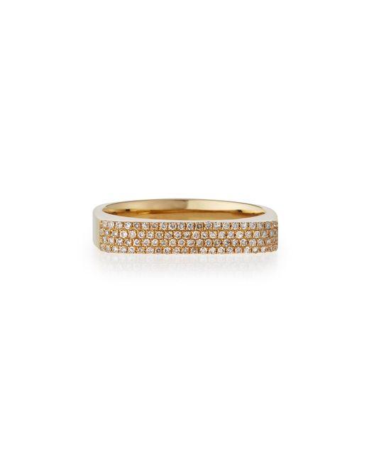 EF Collection 14K Gold Jumbo Bar Ring with Diamonds z5Al5EK
