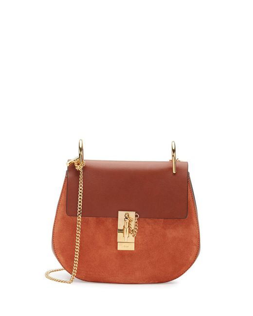 Chloé | Brown Drew Small Chain Saddle Bag | Lyst