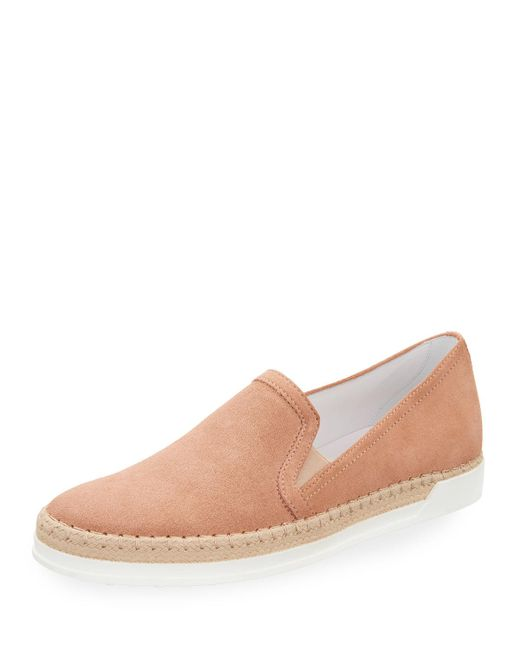 Tod's | Multicolor Suede Espadrille Slip-on Sneaker | Lyst
