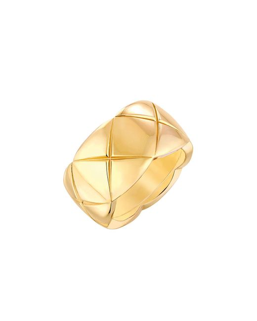 Chanel | Metallic Coco Crush Ring In 18k Yellow Gold | Lyst