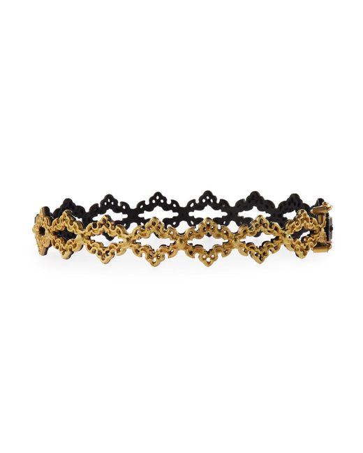 Armenta   Black Old World Open Scroll Huggie Bracelet   Lyst