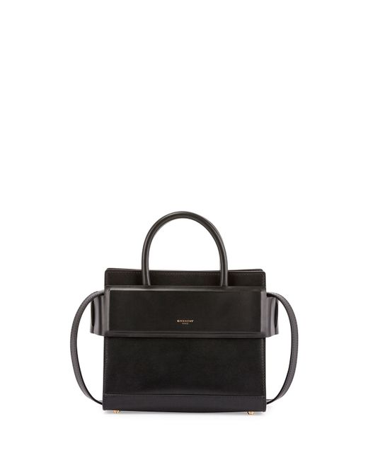 Givenchy | Black Mini Horizon Grained Calfskin Leather Tote | Lyst