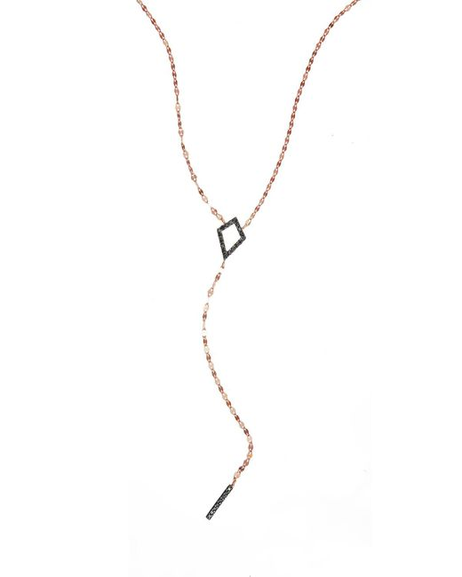 Lana Jewelry | Black Reckless Diamond Bar Lariat Necklace | Lyst