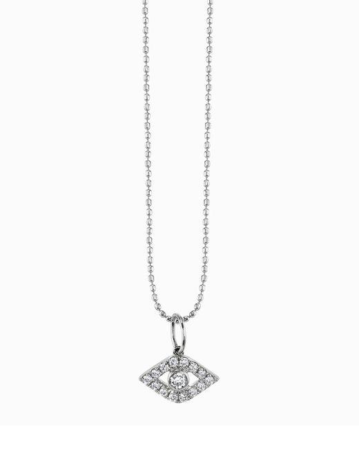 Sydney Evan | Metallic Large Evil Eye Diamond Pendant Necklace | Lyst