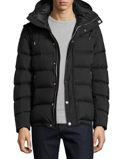Burberry Basford 2 In 1 Puffer Jacket In Black For Men Lyst