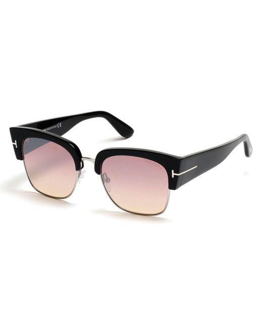 Rimless Cat Eye Glasses : Tom ford Dakota Semi-rimless Cat-eye Flash Sunglasses in ...
