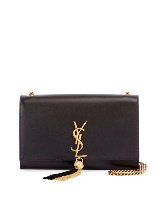 Saint Laurent   Black Monogram Kate Medium Tassel Shoulder Bag   Lyst