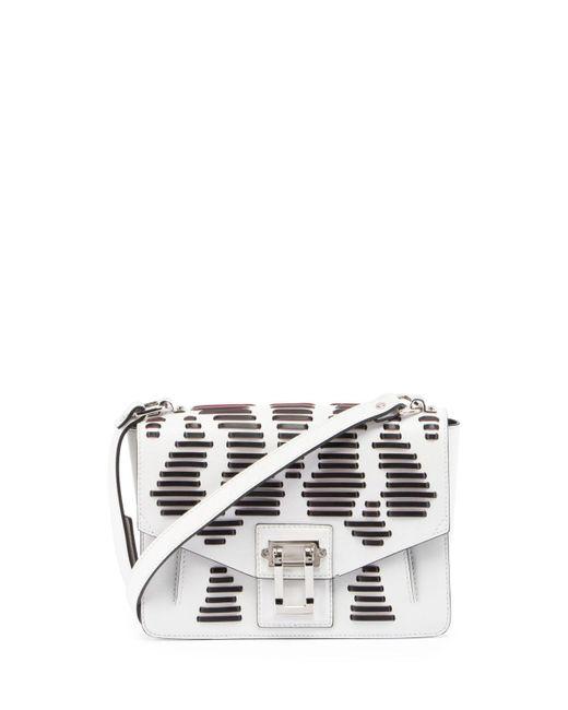 Proenza Schouler | White Hava Laced Leather Shoulder Bag | Lyst