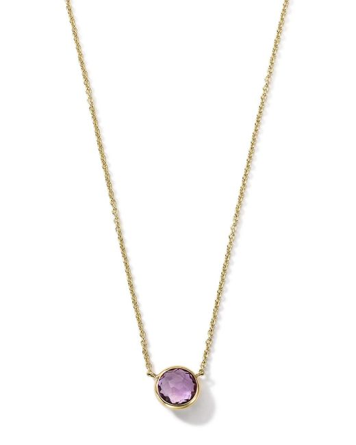 Ippolita | Metallic 18k Gold Mini-lollipop Birthstone Necklace | Lyst