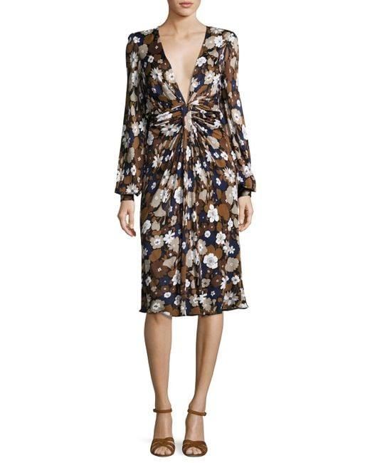 Michael Kors | Blue Plunge Dress | Lyst