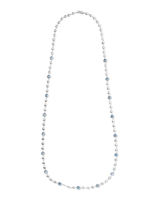 Ippolita | Metallic Silver Rock Candy Multi-stone Necklace In Blue Topaz | Lyst