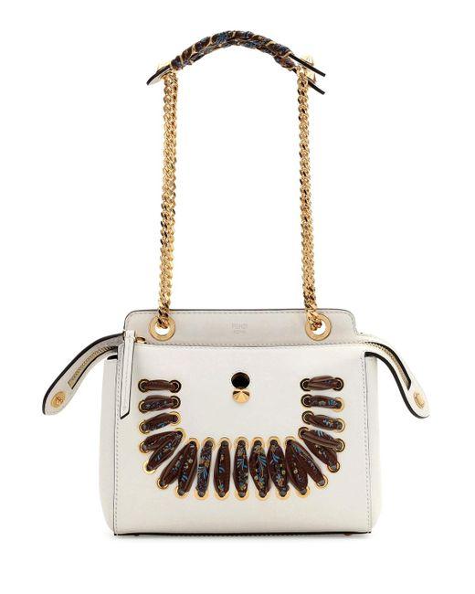 Fendi | White Dotcom Ribbon-laced Shoulder Bag | Lyst
