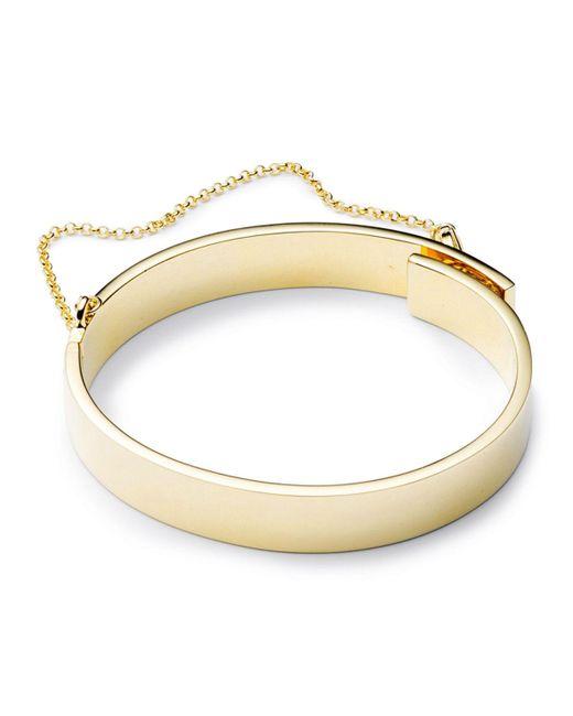Eddie Borgo | Metallic Medium Safety Chain Cuff Bracelet | Lyst