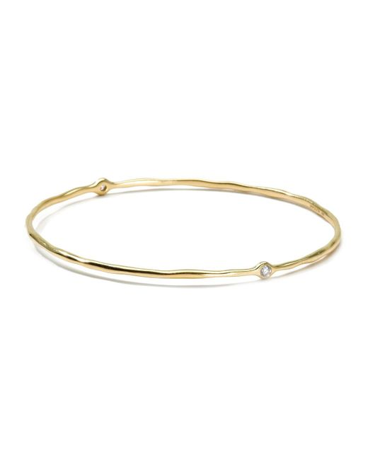 Ippolita | Metallic 18k Gold 2 Diamond Bangle | Lyst