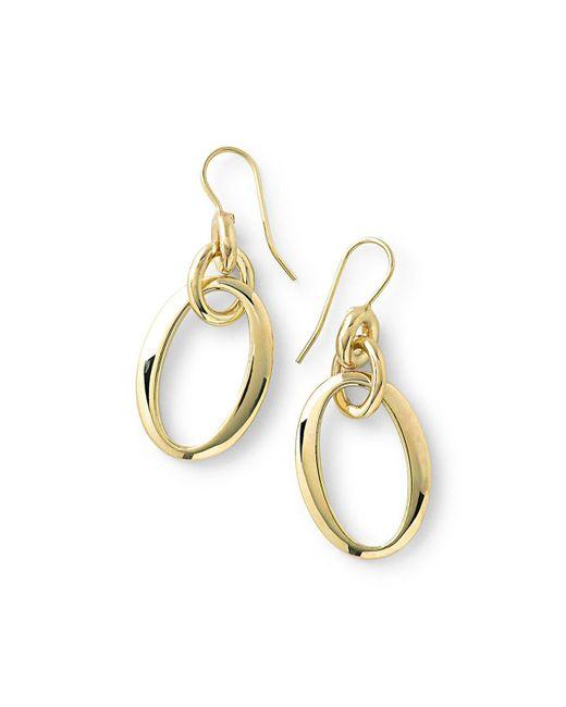 Ippolita   Metallic 18k Glamazon Short Oval Link Earrings   Lyst