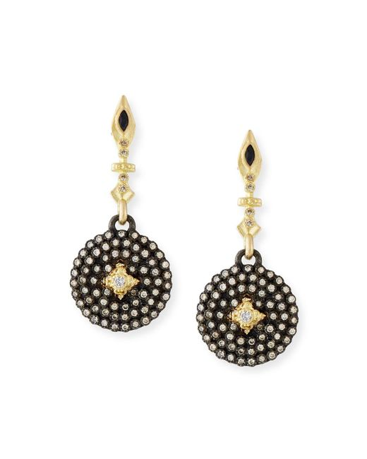 Armenta | Multicolor Old World Midnight Small Shield Earrings With Champagne Diamonds | Lyst