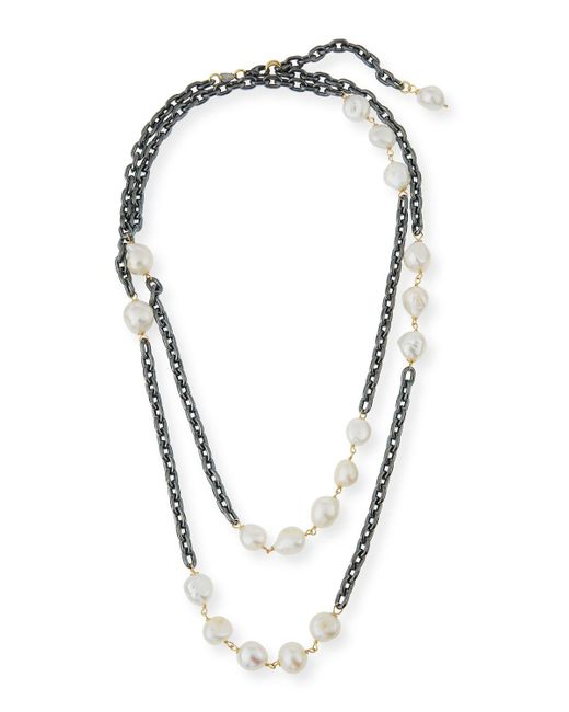 Grazia And Marica Vozza | Multicolor Chain Necklace With Pearls | Lyst